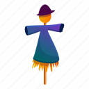 child, food, girl, person, scarecrow, woman