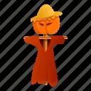 dummy, flower, man, party, retro, scarecrow