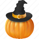clothing, food, halloween, hat, magic, magician, orange, plant, pumpkin, scary, sorcery, spooky, vegetable, wear, witch, witchcraft, wizard icon
