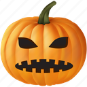 emoticon, evil, fear, food, frighten, halloween, monster, orange, plant, pumpkin, scare, scary, ugly, vegetable icon