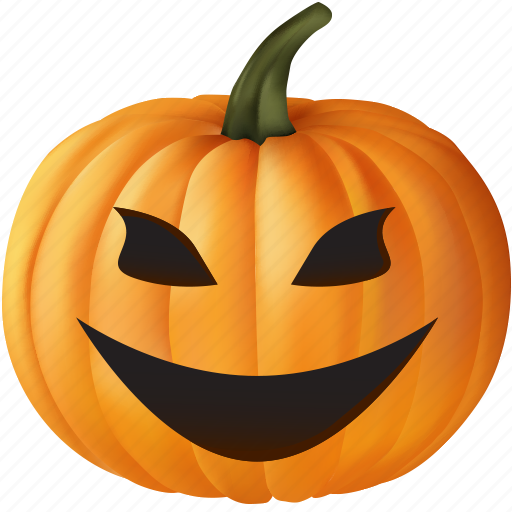 emoticon, evil, fear, food, frighten, halloween, monster, orange, plant, pumpkin, scare, scary, smile, ugly, vegetable icon