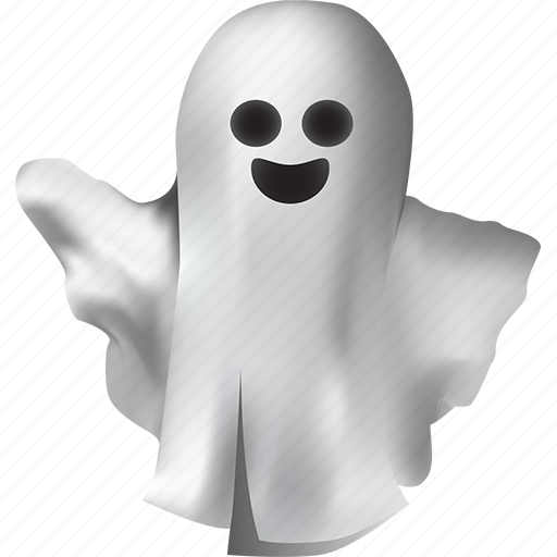 cheerful, costume, creature, dead, death, emoticon, emotions, funny, ghost, good, halloween, hand, humor, magic, monster, mystery, poltergeist, positive, smile, spirit, spooky, waving, white icon