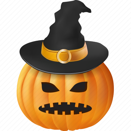 cap, clothing, costume, emoticon, evil, fall, fear, food, frighten, halloween, hat, magic, magician, monster, orange, plant, pumpkin, scare, scary, sorcery, spooky, ugly, vegetable, vegetarian, wear, witch, witchcraft, wizard icon