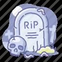 dead, halloween, grave, rip