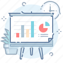 analytics, board, presentation icon