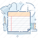 book, information, notes, task icon