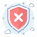 alert, error, security, shield icon