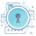 data, key hole, private, secret icon