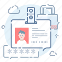 badge, document, id, pass icon