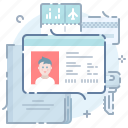 driver, id card, license, pass icon