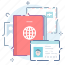 documents, driver, id, license, passport icon