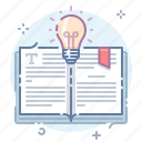 advice, book, bulb, knowledge icon