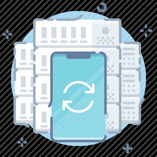 cloud, mobile, server, sync icon