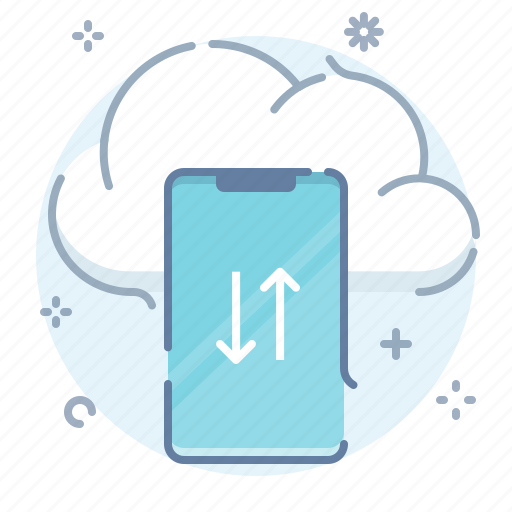 cloud, mobile, sync, transfer icon