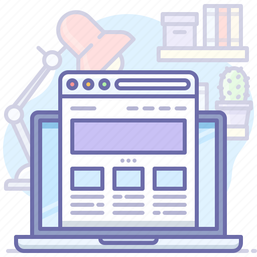 browser, laptop, website icon