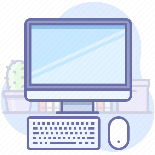 computer, keyboard, mouse icon