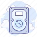 backup, cloud, data, drive, hard, save, schedule icon