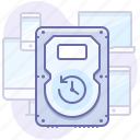backup, device, hard drive icon