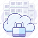 cloud, lock, server icon