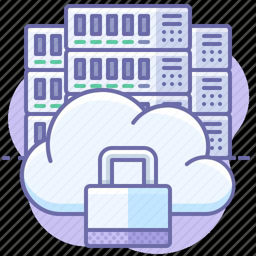 cloud, lock, server icon