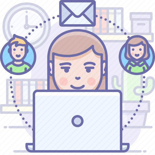 Contacts, team, message icon - Download on Iconfinder