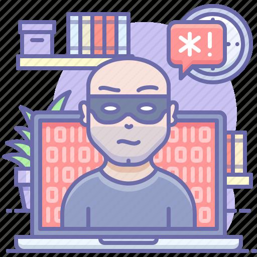 Hacker, laptop, threat icon - Download on Iconfinder
