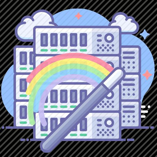 hosting, server, wizard icon