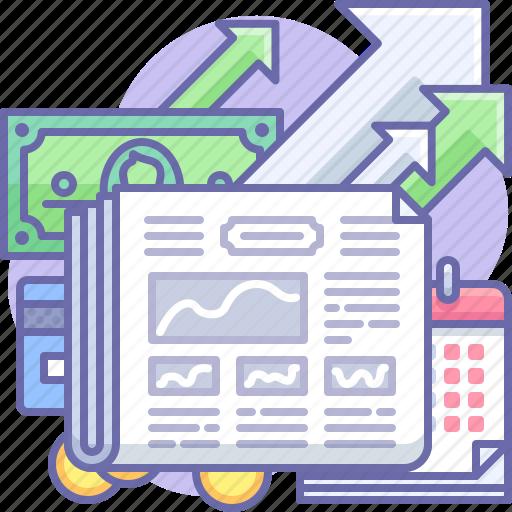 Business, money, newspaper icon - Download on Iconfinder