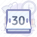 counter, time, day icon