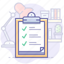 checklist, clipboard, task icon