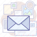 email, message, workplace icon