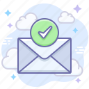 mail, message, checked