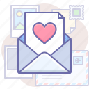 like, message, valentine icon