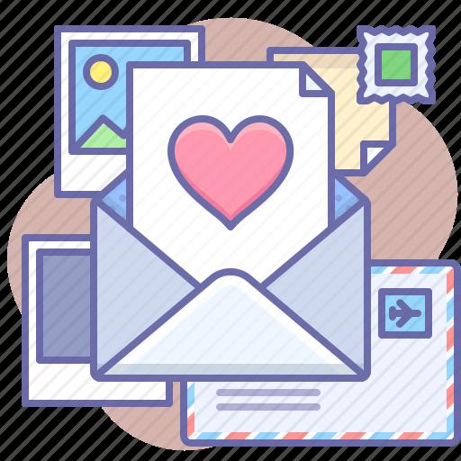 like, message, valentine icon