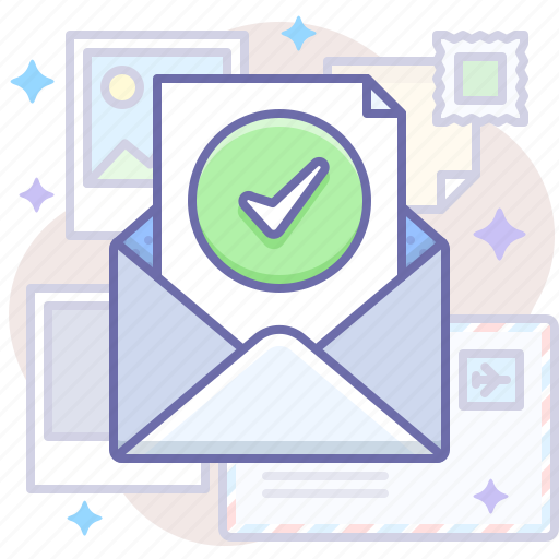 checked, mail, message icon