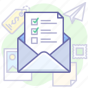 email, list, mail, message, newsletter, subscribe icon