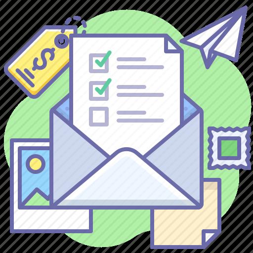 Mail, checklist, letter icon - Download on Iconfinder