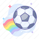 ball, football, rainbow