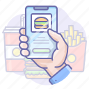 app, delivery, food icon