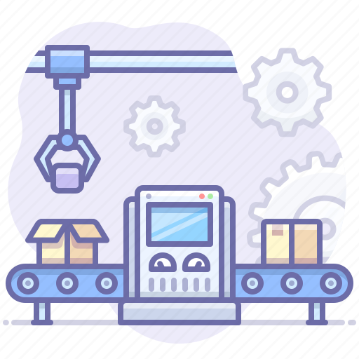 Conveyor, factory, product icon - Download on Iconfinder