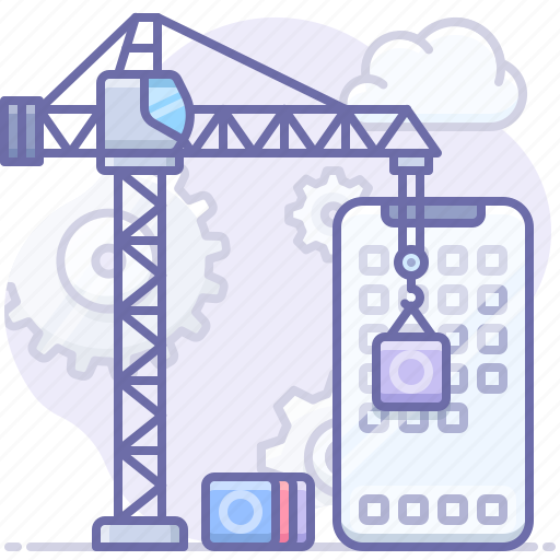app, construction, development icon