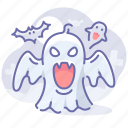 casper, cemetery, ghost, halloween icon