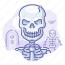 halloween, skeleton, skull, zombie icon