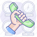 call, hand, phone, support icon