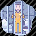 felony, jail, prison, prisoner icon