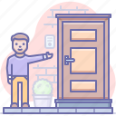 door, invite, welcome icon
