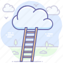 career, cloud, goal, ladder, success