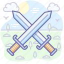 attack, battle, weapons, swords, war icon