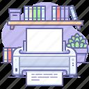 print, printer, office, document icon