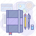 book, design, draw, note, pencil, sketch icon